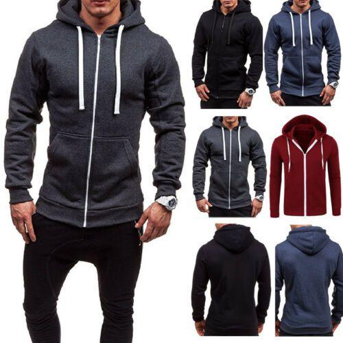 UK Hooded Tee T-Shirt Warm Men Long Sleeve Muscle Hoodie Slim Fit Sweatshirt Gym