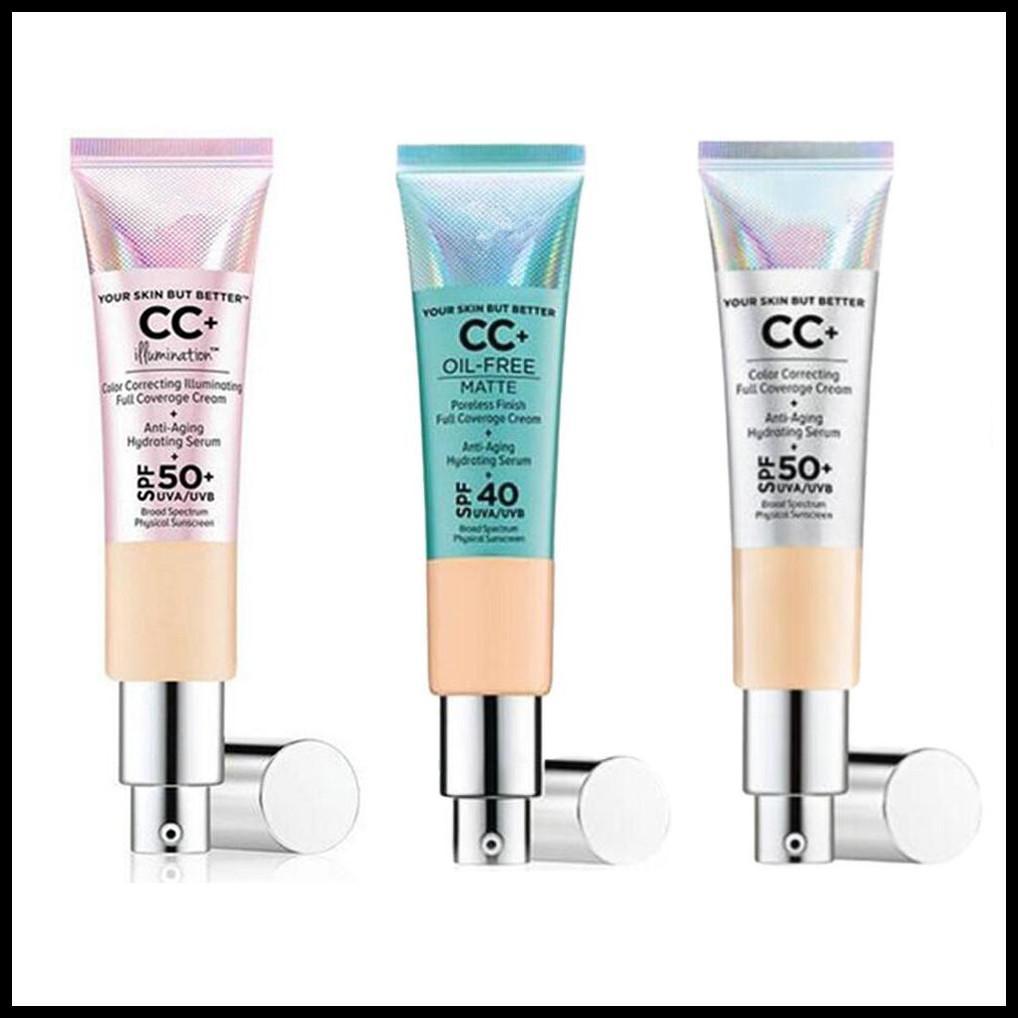 STOCK trucco del fronte CC crema la pelle, ma meglio CC + Crema senza olio opaca senza pori Fine Full Coverage Idratante 32ml