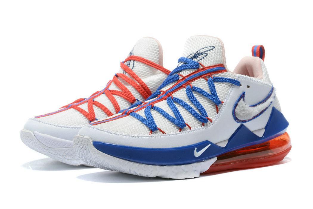 2020 nouvelle LeBron XVII Low EP 17 chaussures de basket-ball mem haute qualité James LBJ Tune Squad Space Jam 2 baskets de sport bleu blanc rouge des hommes