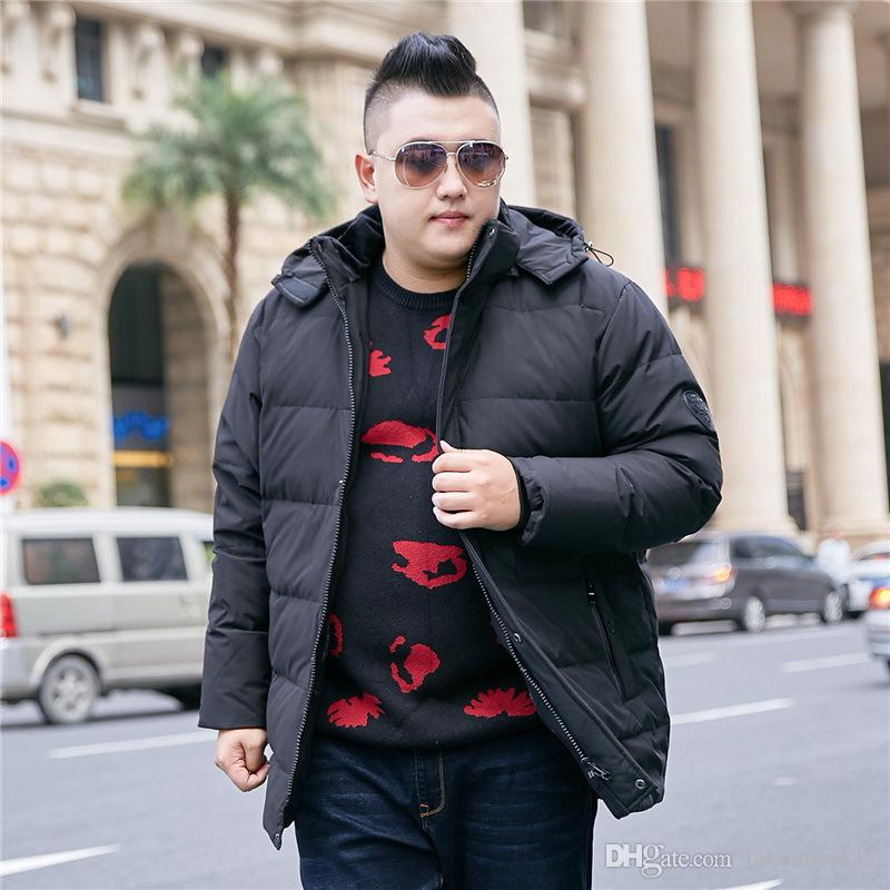 Farbe: Schwarz, Grün, Winter-neue Männer Kapuzenmantel Extra Large XL-8XL 9XL 10XL Männer Jacke beiläufige warme starke Jacke