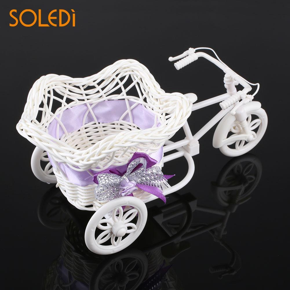 Tricycle Bike Pentagram Basket Container Vases Flower Plant Weddding Decoration