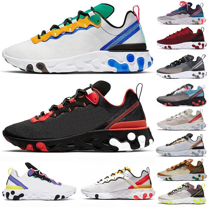 2020 Epik 55 Eleman 87 Undercover Moda Ayakkabı Erkekler Kadınlar Doğa Sporları Platform Ayakkabı Koşu Tepki Siyah Yardımcı Runner Spor Spor ayakkabılar