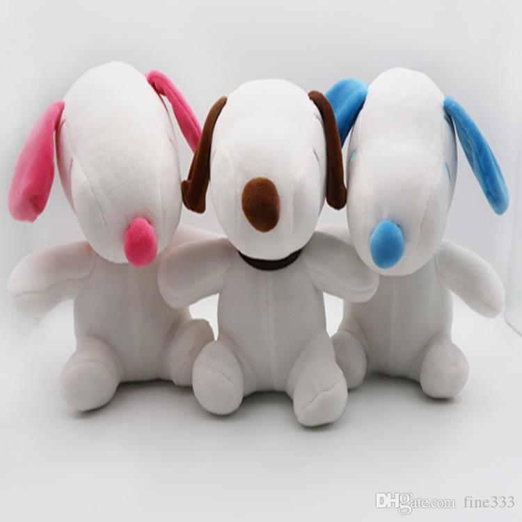 Peanuts SNOOPY Stuffed Animals 21CM/8Inches SNOOPY Plush Doll Toys 3Colors Mix Best Christmas Gifts DHL Wholesale kids toys LS8241