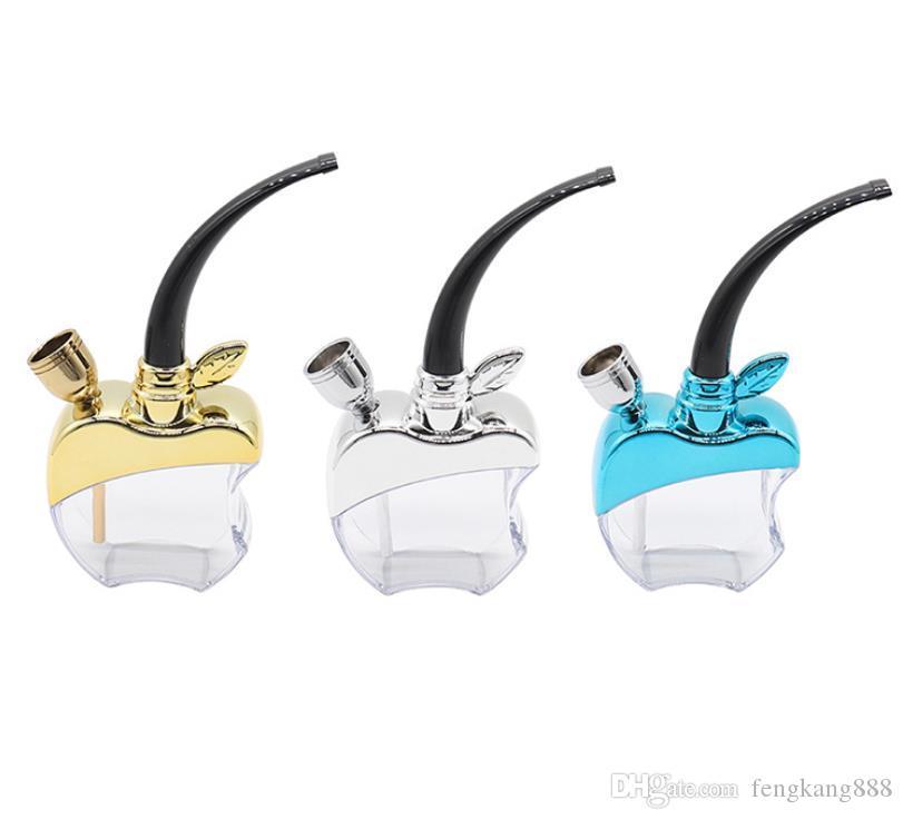 Neue Glaswasser-Zigarettenspitze mit Filter-Zigarettenspitze und Apfel-Wasserpfeife für zwei Verwendungszwecke