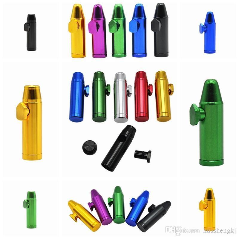 Nuovi Colorful metallo da fiuto di figura della pallottola del tubo di fumo Naso lega di alluminio Design innovativo portatile di alta qualità Multi Style DHL