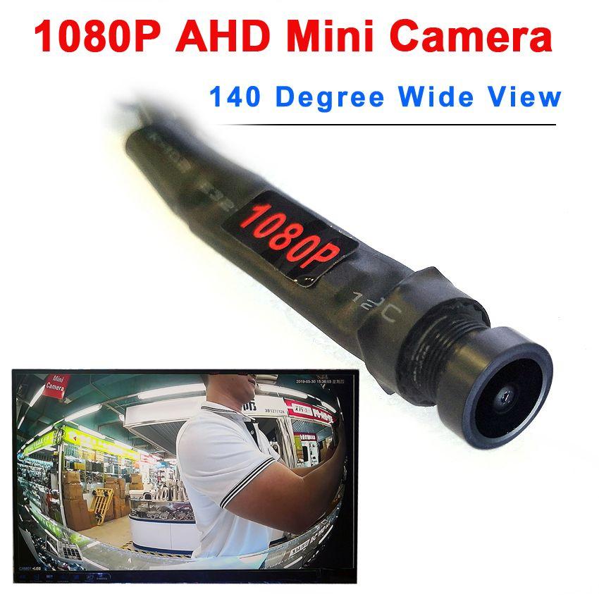 1080P AHD 140degree 넓은 AHD의 DVR 시스템 작은 소형의 고인 2MP 카메라 오디오 마이크로 소형 카메라를보기
