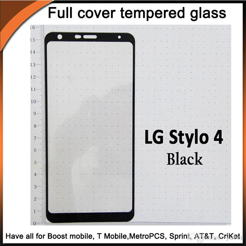 2.5D tempered glass full cover screen protector curved edge with 10in1 package for LG Stylo3/Stylo4/K10 2018/K30/Q7/X Power3