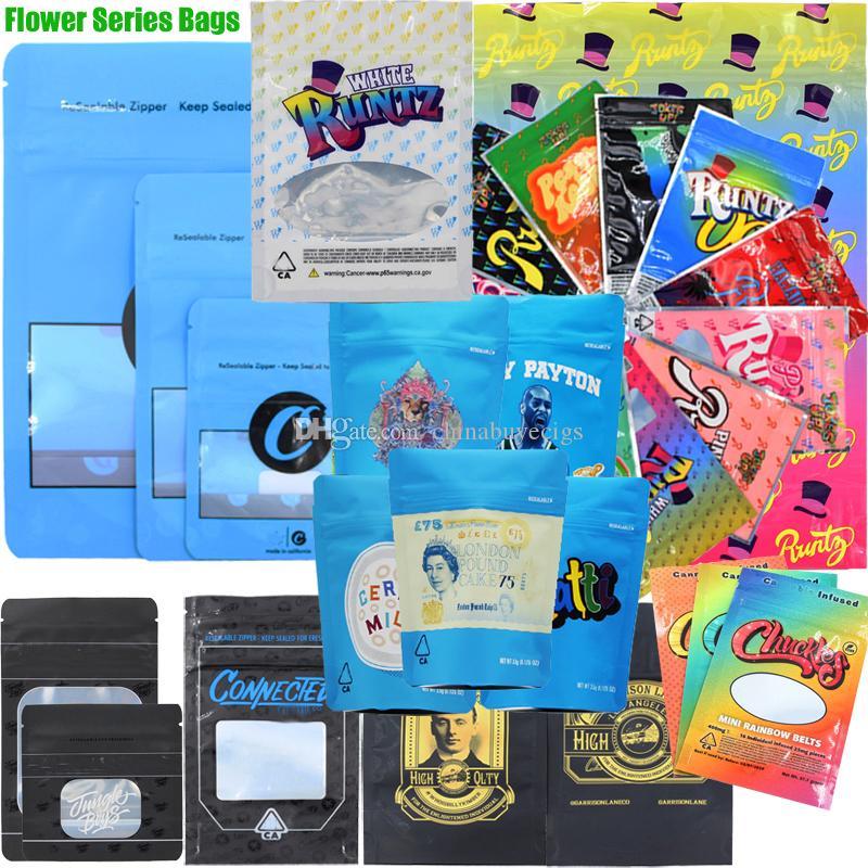 Cookies Chuckles Alien Labs Joke's UP! Runtz Connected Jungle Boys Garrison Lane Package Zipper Bag Packaging Dry Herb Flowers Hearbal Pack