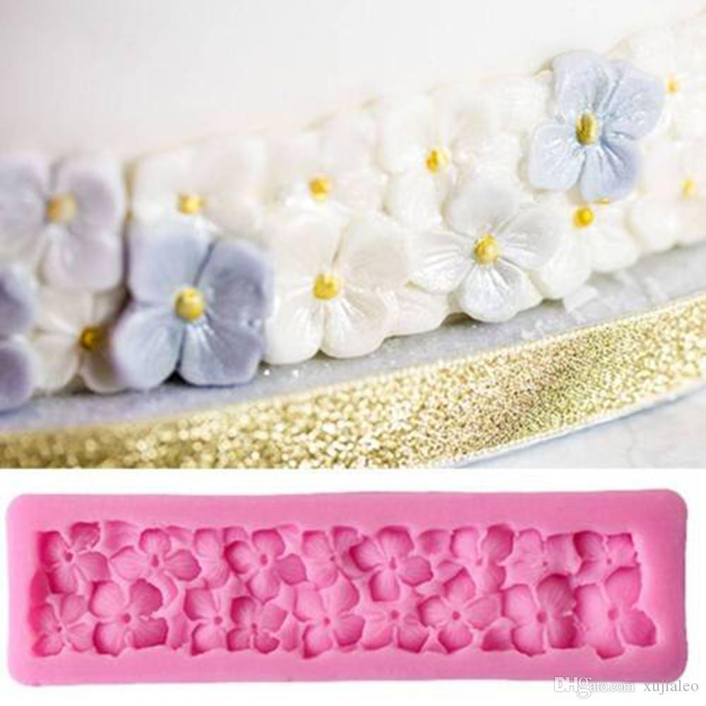 Freie Verschiffen Qualität Food Grade Art und Weise 3D Blumen-Silikon-Kuchen-Form-DIY-Fondant-Kuchen Schokolade Dekorieren Backen-Werkzeuge