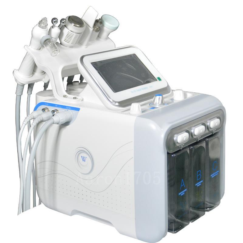 6in1 H2-O2 히드라 더마 브레이 젼 아쿠아 필은 RF 페이셜 하이드로 워터 미세 박피술 페이스 리프트 기계 기계 바이오 리프팅