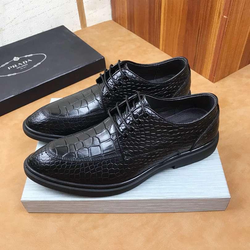 sapatos de moda masculina clássica vestido respirável plana Derby casamento sapatos de negócios Oxford 1106X03