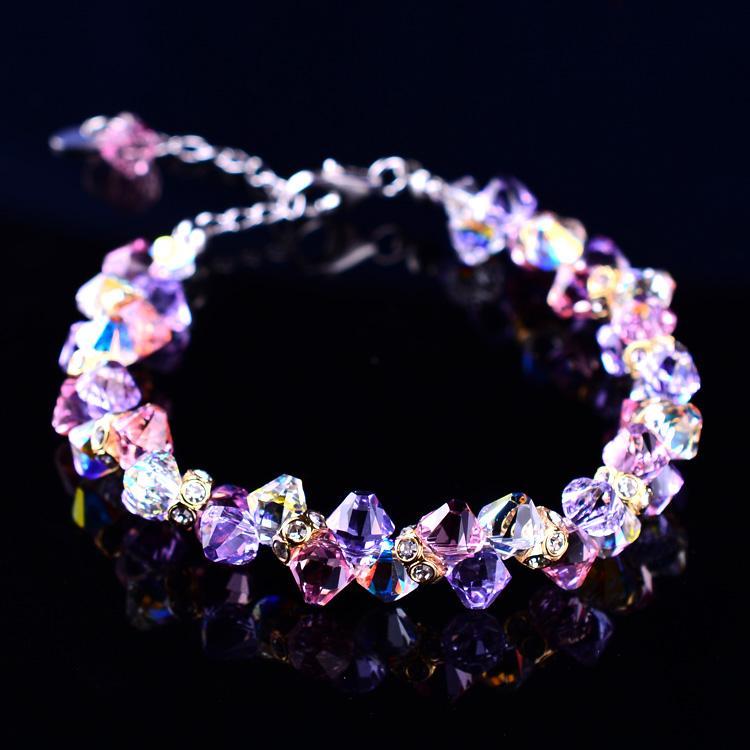 Cristal Améthyste Lavande Bracelet autrichien