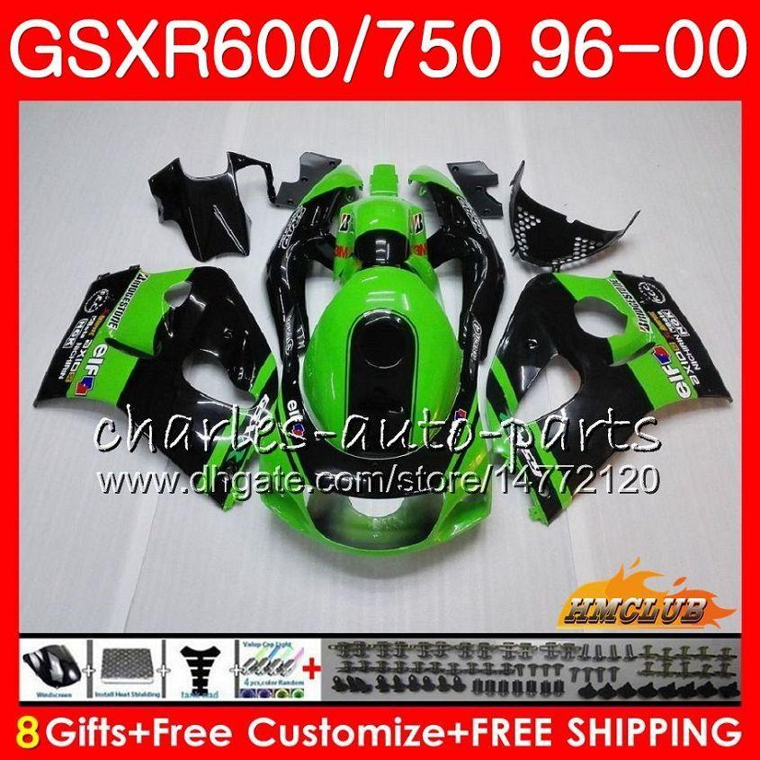 Тело Для SUZUKI SRAD GSXR 750 600 GSXR600 GSXR750 96 97 98 99 00 1HC.4 GSXR750 GSXR600 завод зеленый 1996 1997 1998 1999 2000 Обтекатель комплект