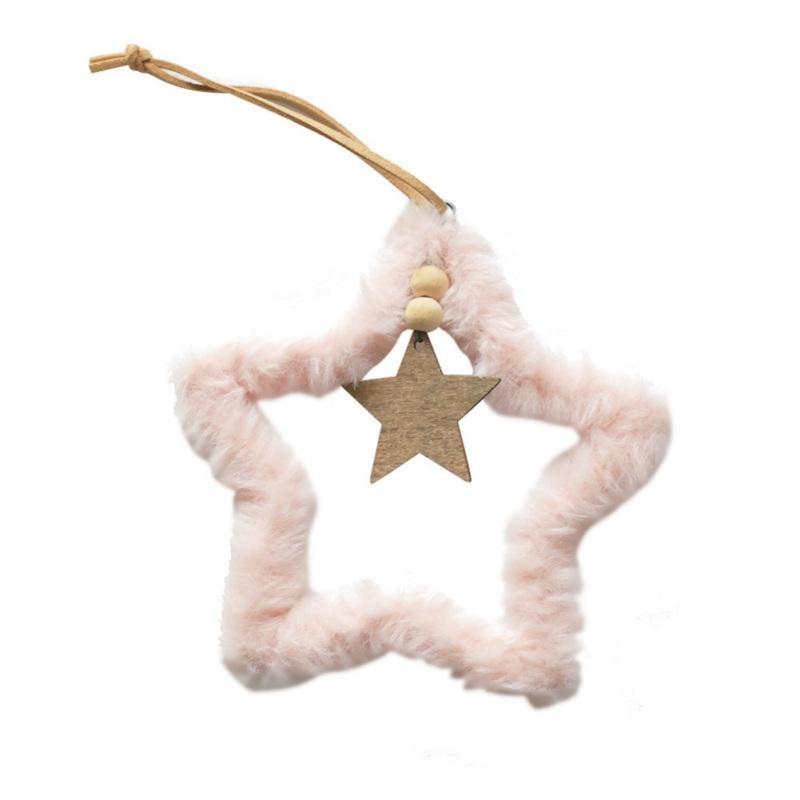 Carino Supplies Decorazioni regalo di Natale decorazione festiva peluche pendenti di rosa albero di Natale appeso a forma di cuore
