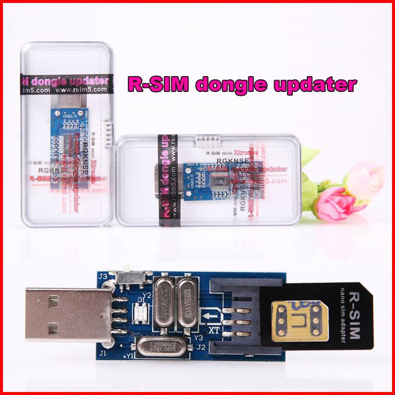 Rsim R sim R-SIM 14+/12 dongle updater for Mini Xtreme comes with one piece R-SIM nano sim card adapter