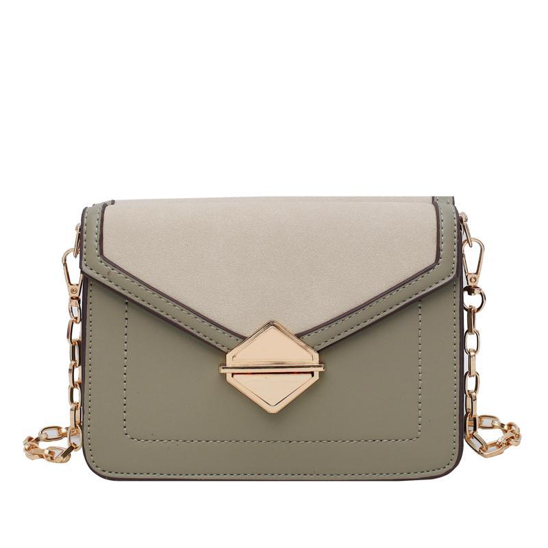 Kontrastfarbe Leder Umhängetaschen für Frauen 2019 Reisehandtasche Fashion Einfache Schulter Messenger Bag Damen Umhängetasche