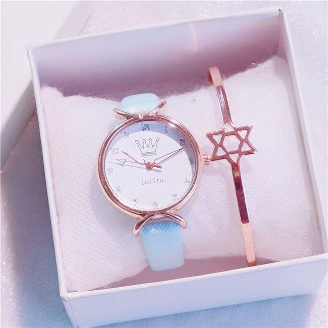 PU Leather quarzo donne orologi di design semplice manopola della lega signore della vigilanza della gelatina caramelle orologi da polso al quarzo vestito della signora del diamante