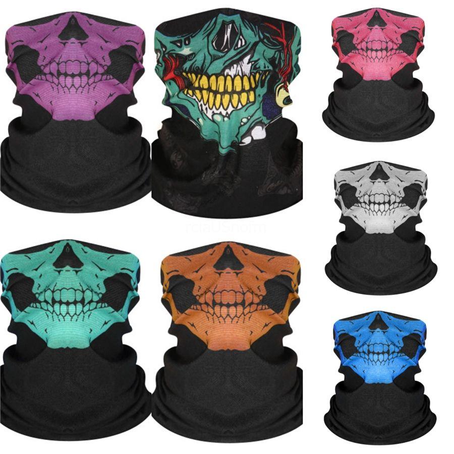 Multi-couleur imitation cachemire crâne écharpe Biker Equipé de printemps et d'automne multi-fonction magique crâne écharpe avec Seam masque thermique # 442