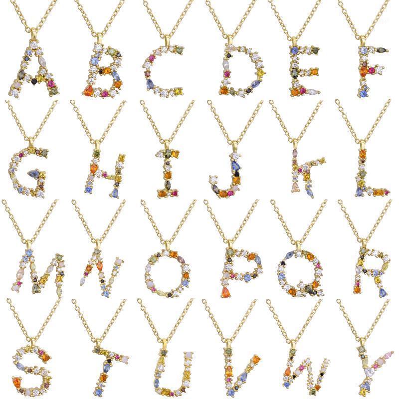 Pendant Necklaces Long Necklace 26 Alphabet Pendants Letters Chains For Women Men Multicolor Fashion Charm1