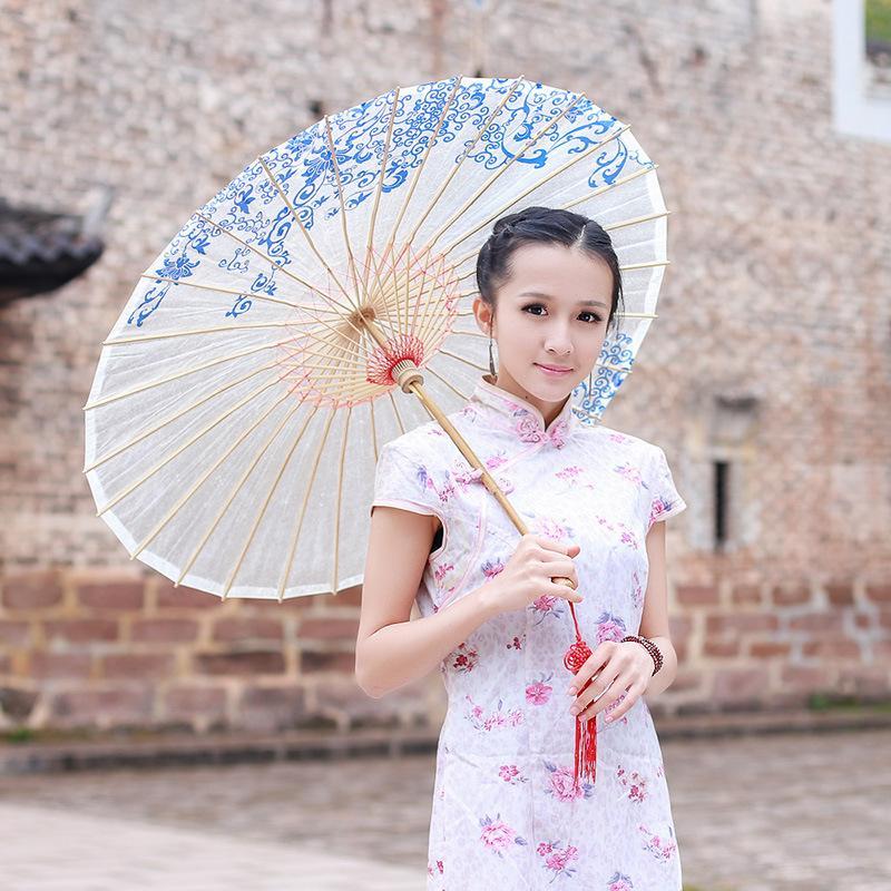 Frauen sonnenschirm bambus regendicht geölt papier auto regenschirm schatten regen frauen dekoration holz sonnenschirm paraguas mujer neu