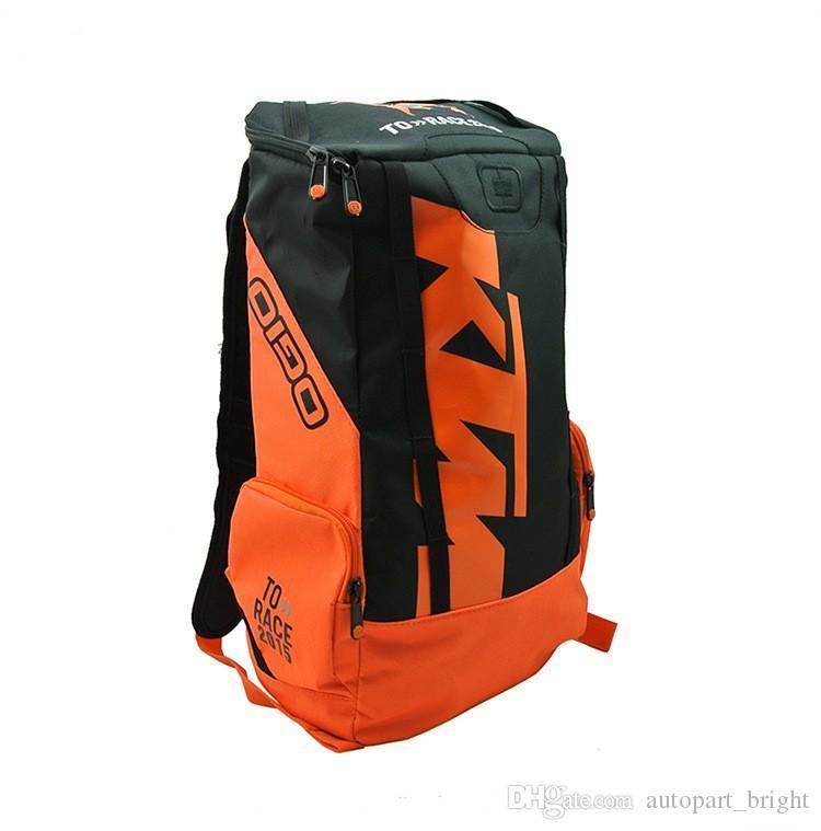 sıcak satış KTM sırt çantası motosiklet yolculuğu sırt çantası malzeme çantası moda motosiklet açık sırt çantası motokros sürme yarış