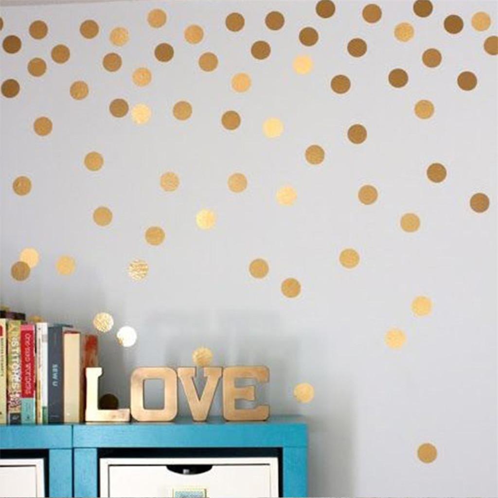 4sets / 200pcs Creative mur Round Dot mur fenêtre Décoration Stickers 2po