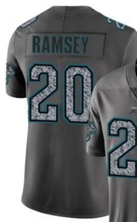 Mens Jacksonville 7 20 camice Jersey Grigio Moda Statico Limited Jersey football americano Jersey