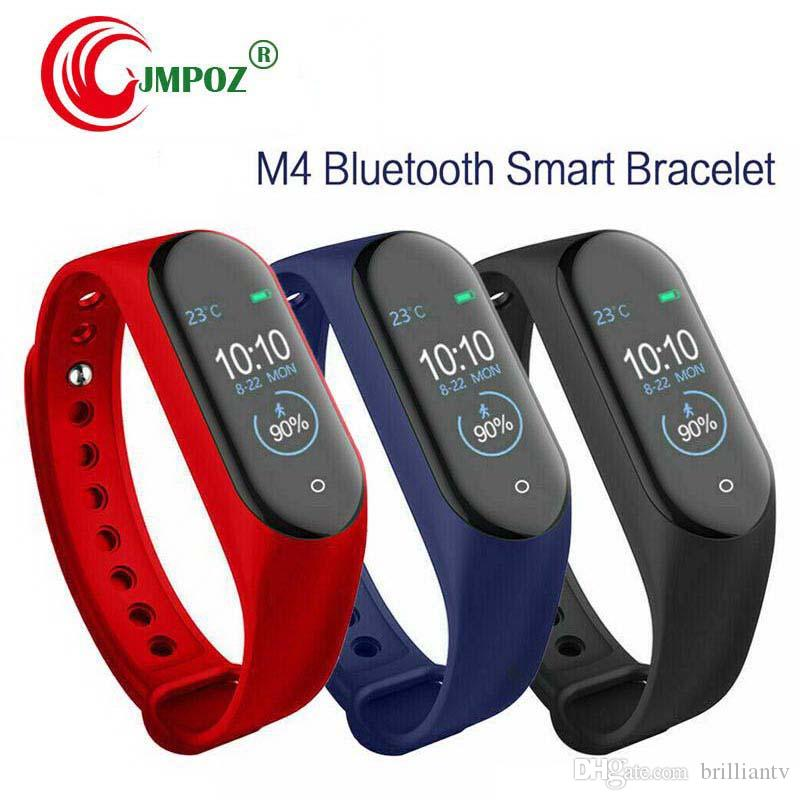 New M4 Smart Bracelet Band Wristbands Fitness Tracker Health Heart Rate Monitor Bluetooth smartwatch support life waterproof