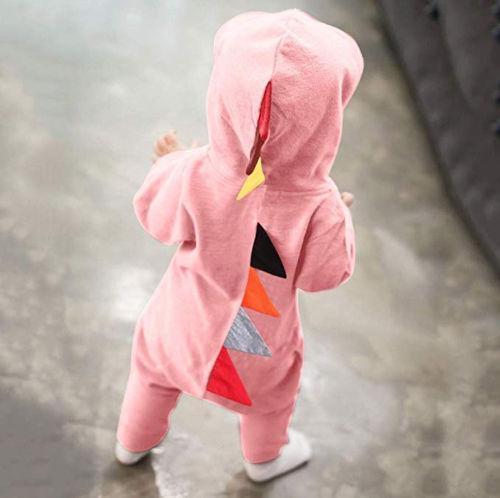 Mignon Nouveau-né bébé fille Dinosaur Costume bébé Tout-petit Jumpsuit Romper 7 Couleur