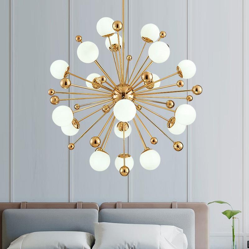 الشمال LED الثريات الهندباء الأمريكية ماجيك أضواء فول فن الديكور مصباح ضوء لغرفة المعيشة تناول الطعام نوم غرفة 110V 220V