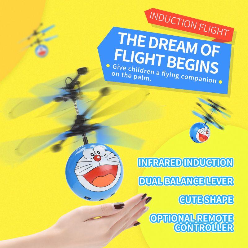 Induction avions jouets pour enfants mignons jouets peu de contrôle à distance des avions peuvent voler flottant jouets volants sens de balle