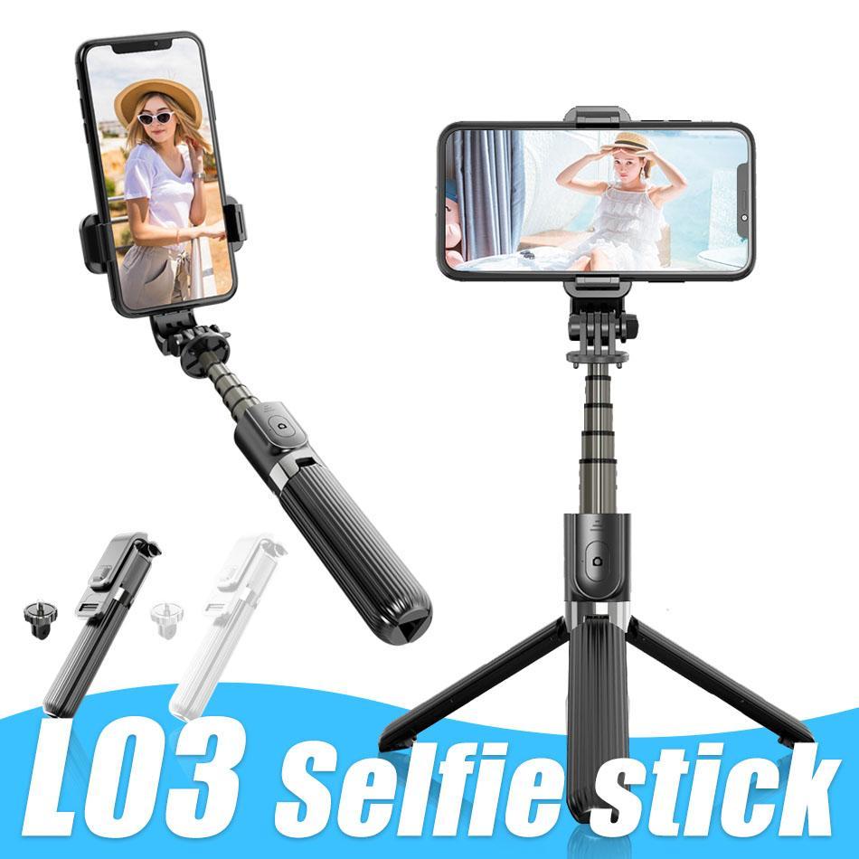 L03 셀카 스틱 접이식 삼각대 무선 블루투스 제어 알루미늄 합금 삼각대 제품과 함께 핸드폰 용 받침대