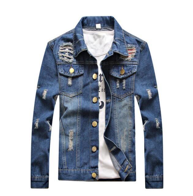 Роскошная мужская дизайнерская джинсовая куртка мужчины высокое качество повседневные пальто 3 стиля модный бренд мужская дизайнерская куртка размер M-4XL