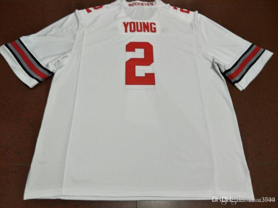 Jugend Staat Ohio-Rosskastanien # 2 Chase Junge Individuelle echte Stickerei College Football Jersey-Größe S-4XL oder benutzerdefinierten beliebigen Namen oder Nummer Jersey