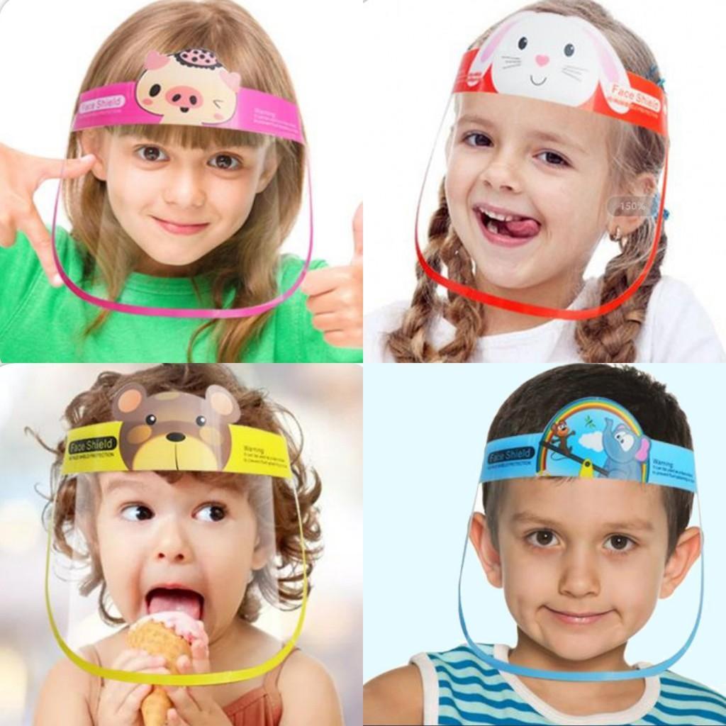 10 PC를 DHL 어린이 태양 모자 어린이 클리어 안티 - 안개 방진 보호 바이저 풀 페이스 모자 취재 쉴드 눈 보호 FY8096 마스크