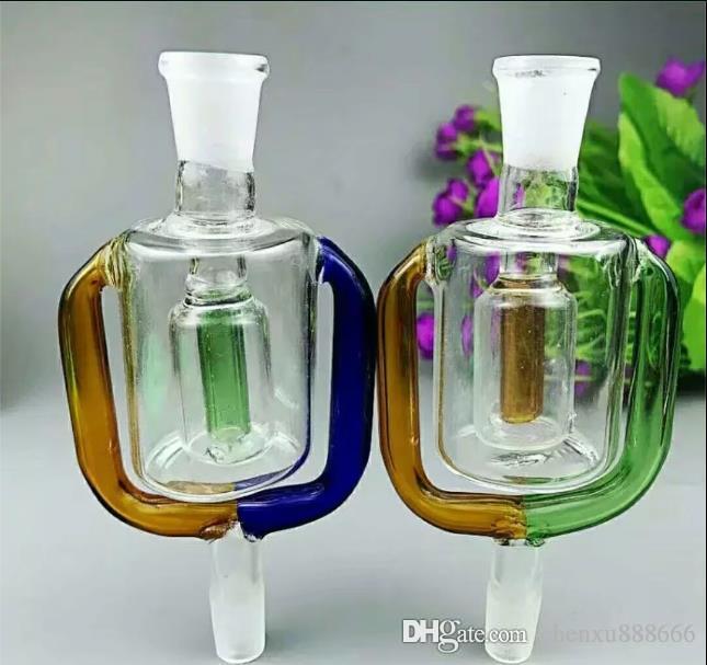 Olla de filtro de vidrio exterior Venta al por mayor Bongs de vidrio Quemador de aceite Vidrio Tuberías de agua Plataformas de aceite Fumar gratis