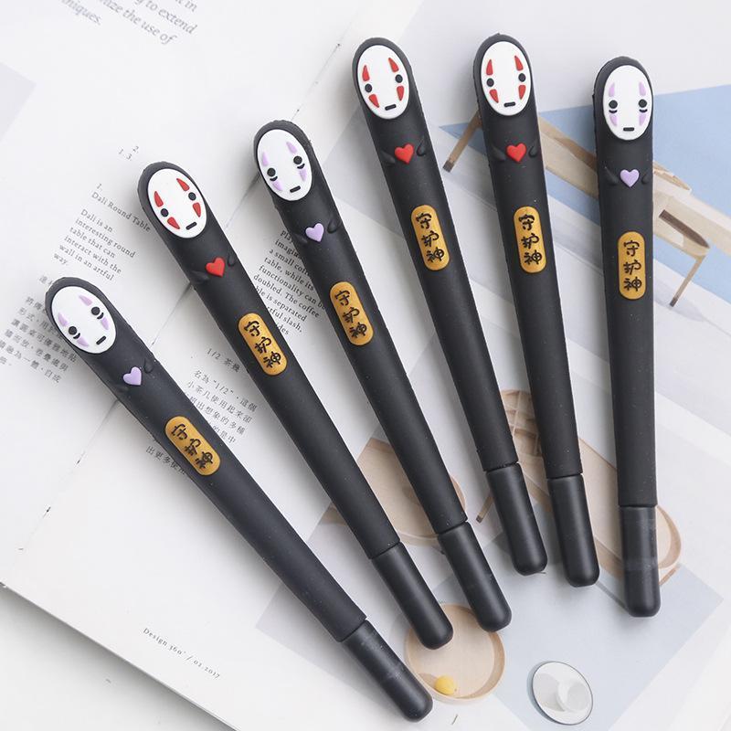 Japonya Ruhların Kaçışı Yüzsüz Adam Jel Kalem Sevimli 0,38 Mm Siyah Mürekkep Nötr Kalemler Promosyon Kırtasiye Hediye Okul Yazma Malzemeleri