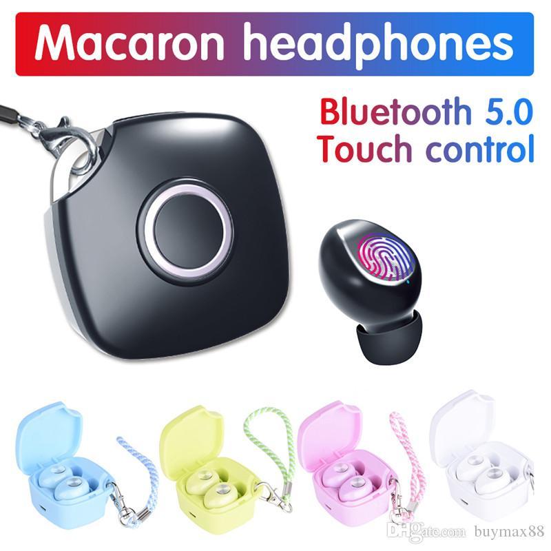Bluetooth Wireless Earphone A8 TWS Touch Control Bluetooth 5.0 Wireless Earbuds Waterproof Stereo Headsets 400 mAh Charging box