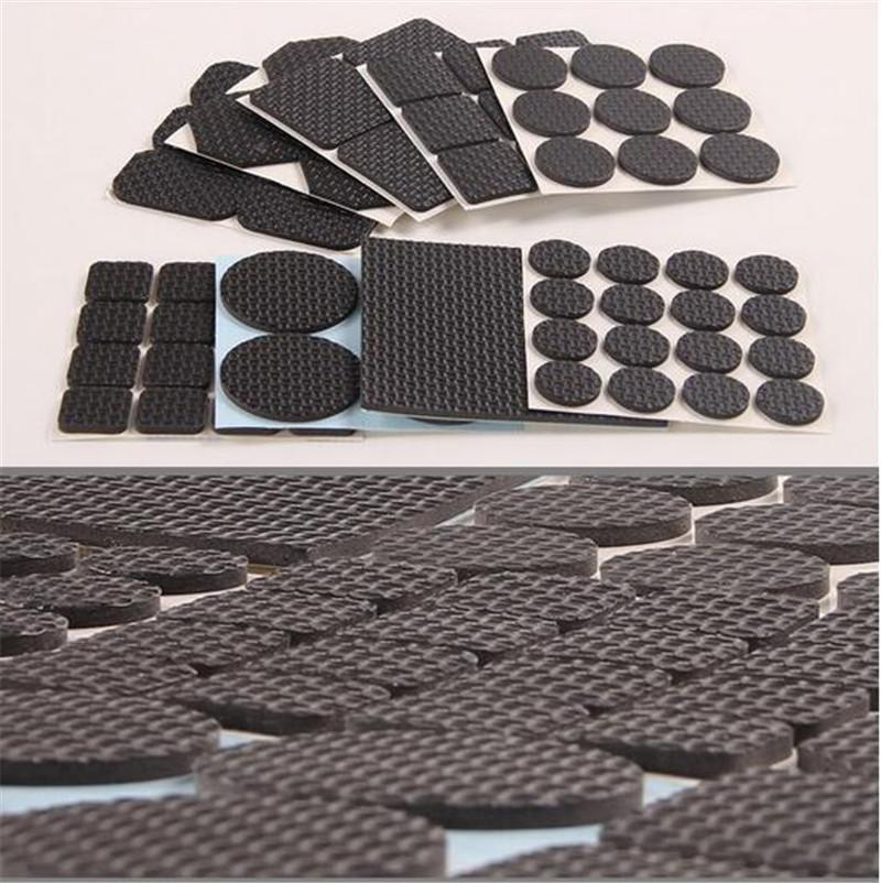 Nuevo Inicio auto adhesivo Mat Silla Mesa redonda Muebles Pierna rellena el protector de pies cuadrados de piso de deslizamiento Mats parachoques Home Hardware