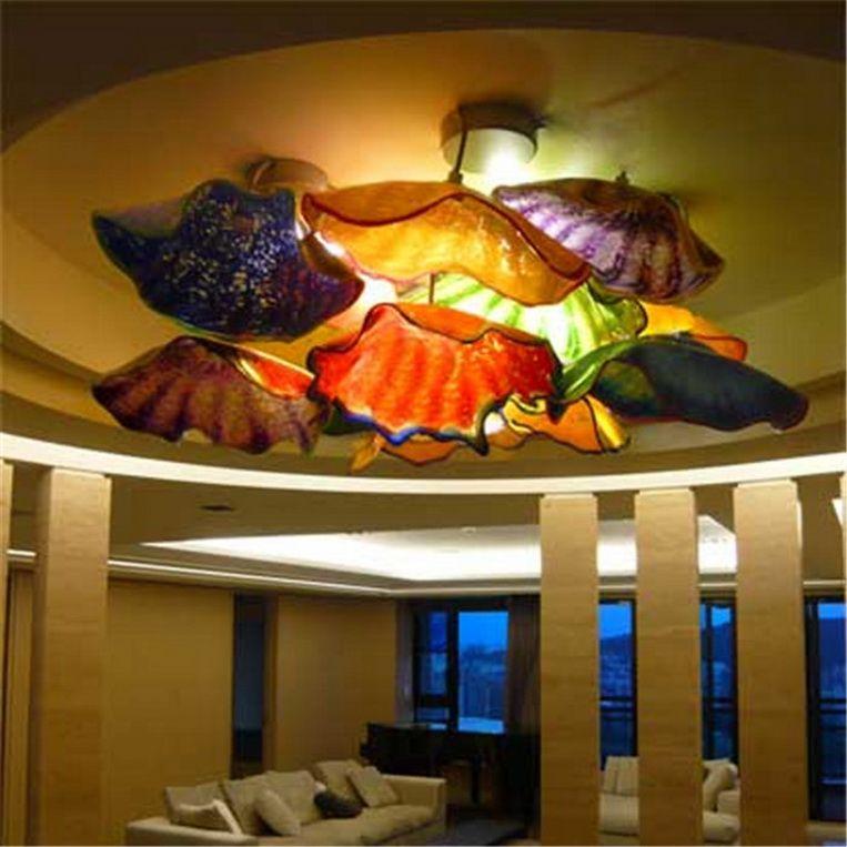 Multicolore a mano Soffiato Piastre di Murano decorazione della parete di vetro Fancy Led Decorative Luce a muro India 2020