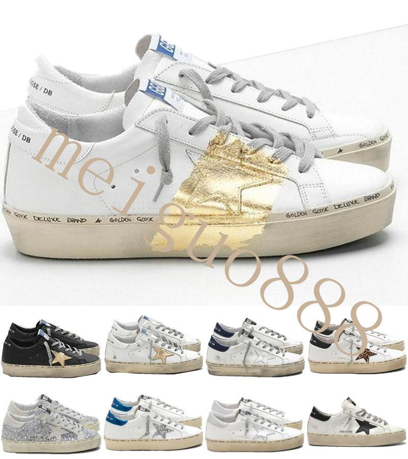 Italy Brand Multicolor Heel Golden Superstar Gooses Designer Sneakers Men Women Classic White Do-old Dirty Shoes Hi Star Shoes Size 35-45 #4
