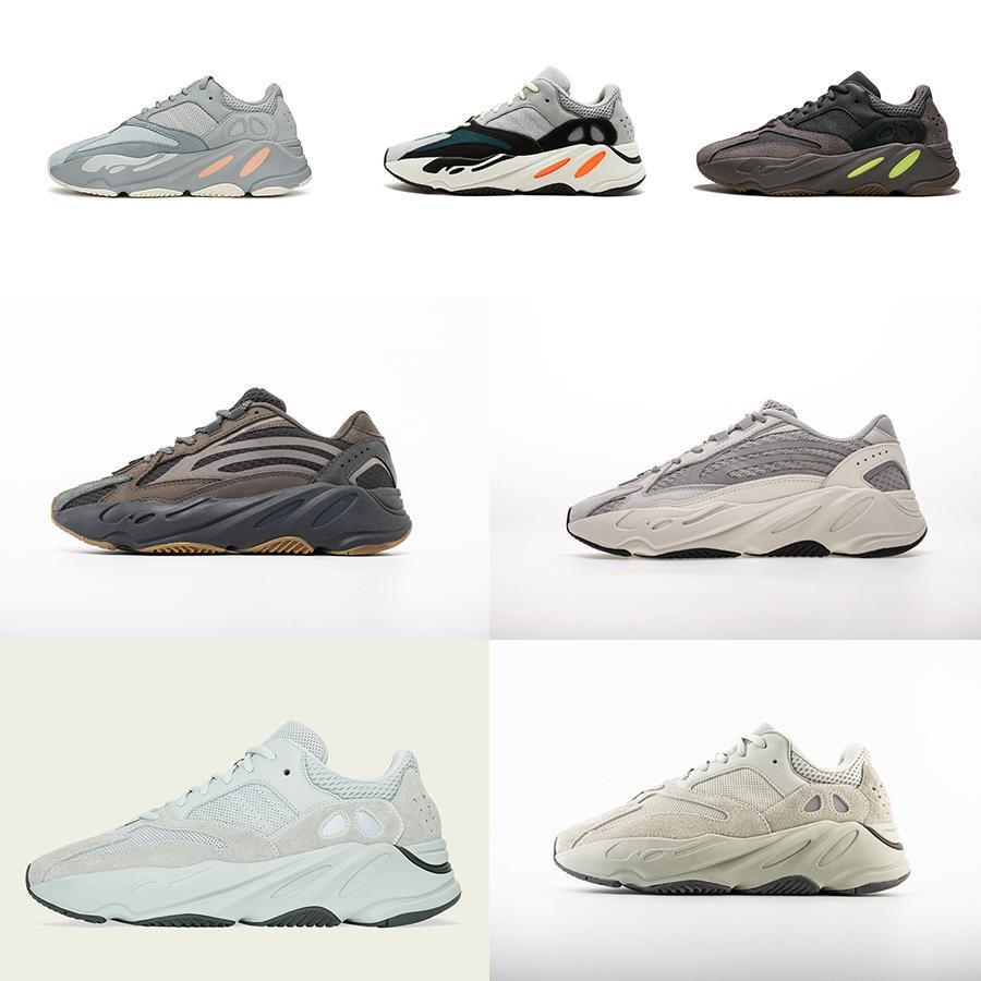 С Box новой 700 Wave Runner Сиреневой Инерцией Мужской обуви Kanye West Дизайнерской обувью для мужчин Женщины 700 V2 Статических Спортивного Seankers размером 36-45 # 03a143 #