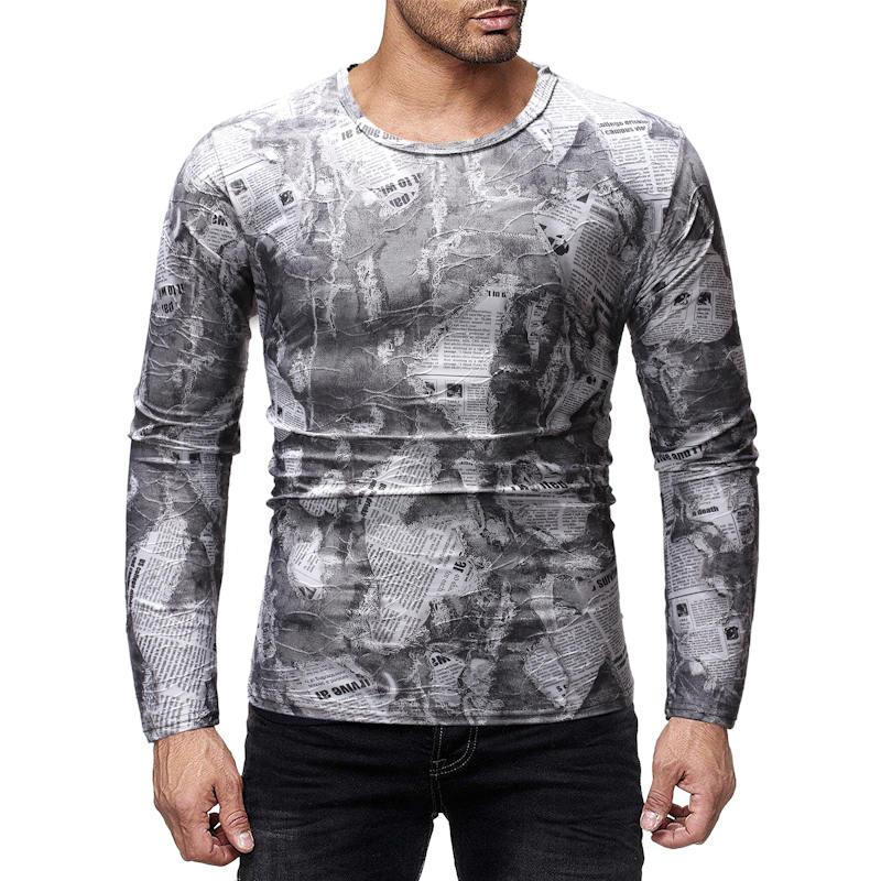 Erkek Tasarımcı Tişörtlü Baskılı Kazak Uzun Kollu Erkek Hip Hop Gece Kulübü Casual Genç Giyim Tops