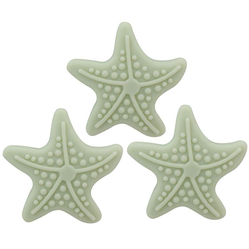 1PC parede espessamento Mute bonito Forma Starfish criativa Silicone Handle Door Lock Após a Protecção Pad Adesivos de parede