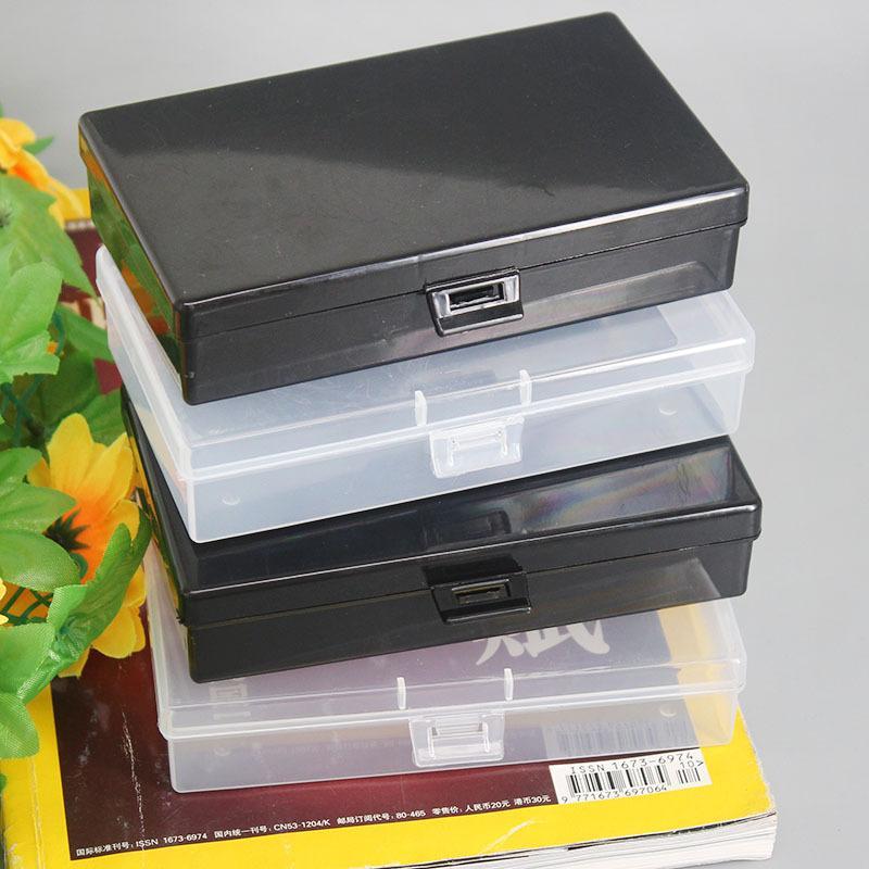 Şeffaf Plastik Saklama Kutuları Temizle Kare Çok Amaçlı Vitrin Plastik Mücevher Saklama Kutusu Masaüstü