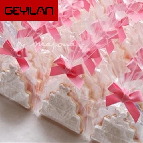 12*25 см 100 шт. / лот ясно печенье PE сумка для хранения партии подарок шоколад леденец свадьба конфеты хлеб кулинар пластиковые упаковочные мешки