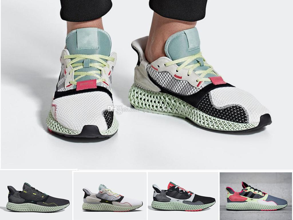 Nuovo Consorzio ZX 4000 FutureCraft 4D pattini correnti degli uomini Mens BD7931 zx4000 2020 uomini Trainer Sport Sneakers 36-45