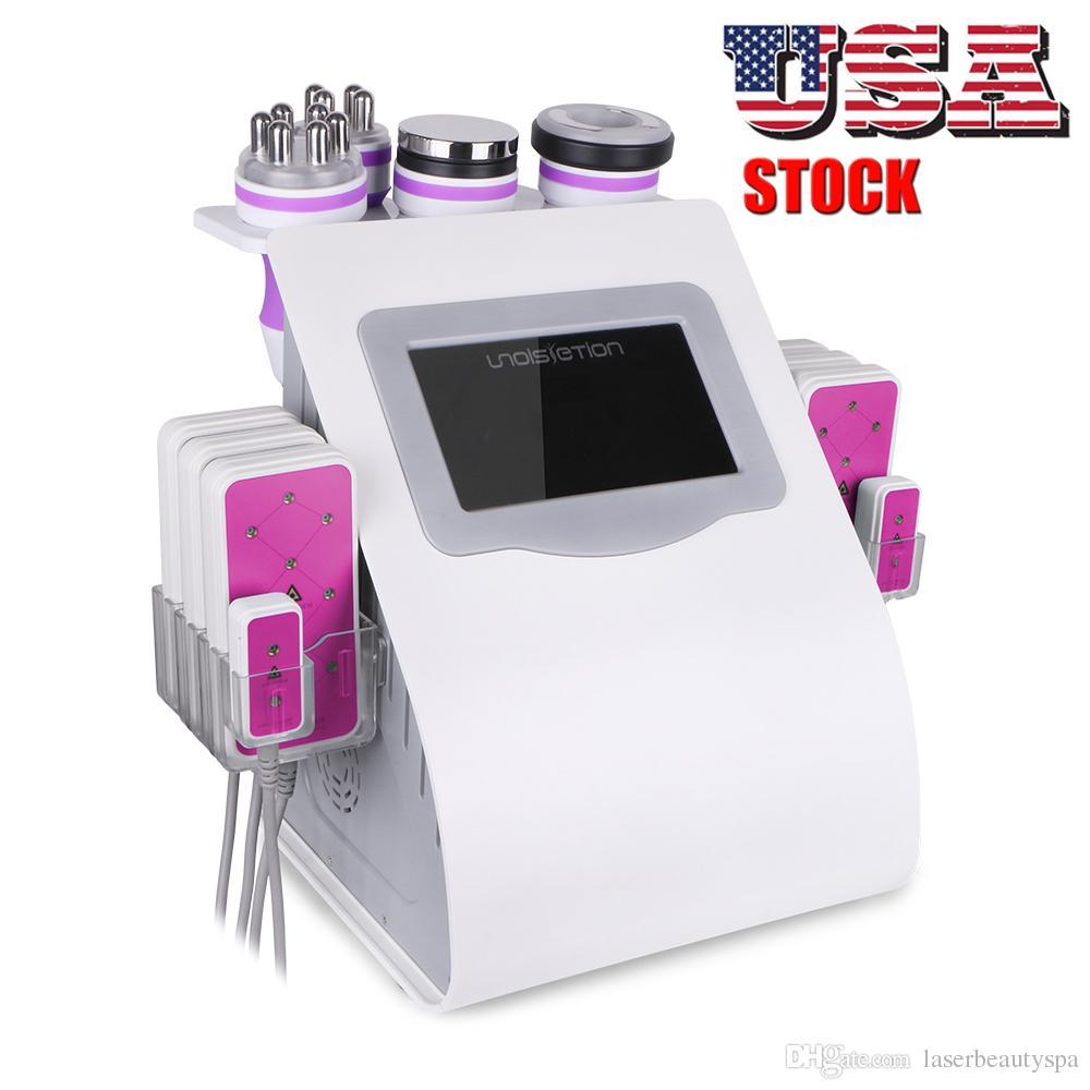 6 في 1 آلة لتخفيف NEW يبو التجويف الجسم التخسيس RF الوزن يبو ليزر آلة فوتون سبا استخدام