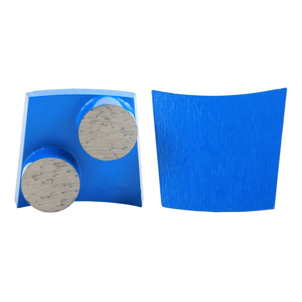 PHX Trapezoid Fast Lock Grinding Disc Two Round Bar PHX Diamond Grinding Wheel for Floor Grinding Phoenix Floor Grinder 12PCS