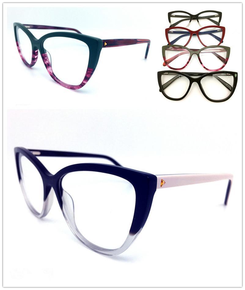 الرجال إطارات جديدة أعلى جودة العلامة التجارية تصميم بصري أزياء المرأة خمر خلات نظارات النظارات بلانك نظارات إطار نظارات نظارات H0029